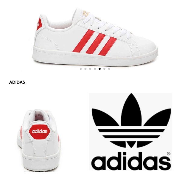 Red Stripe Leather Sneakers